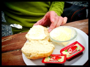 A generous portion of clotted cream